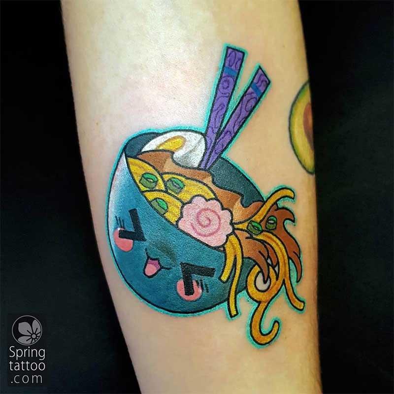 Ramen soup tattoo