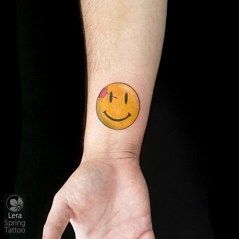 smiley tattoo