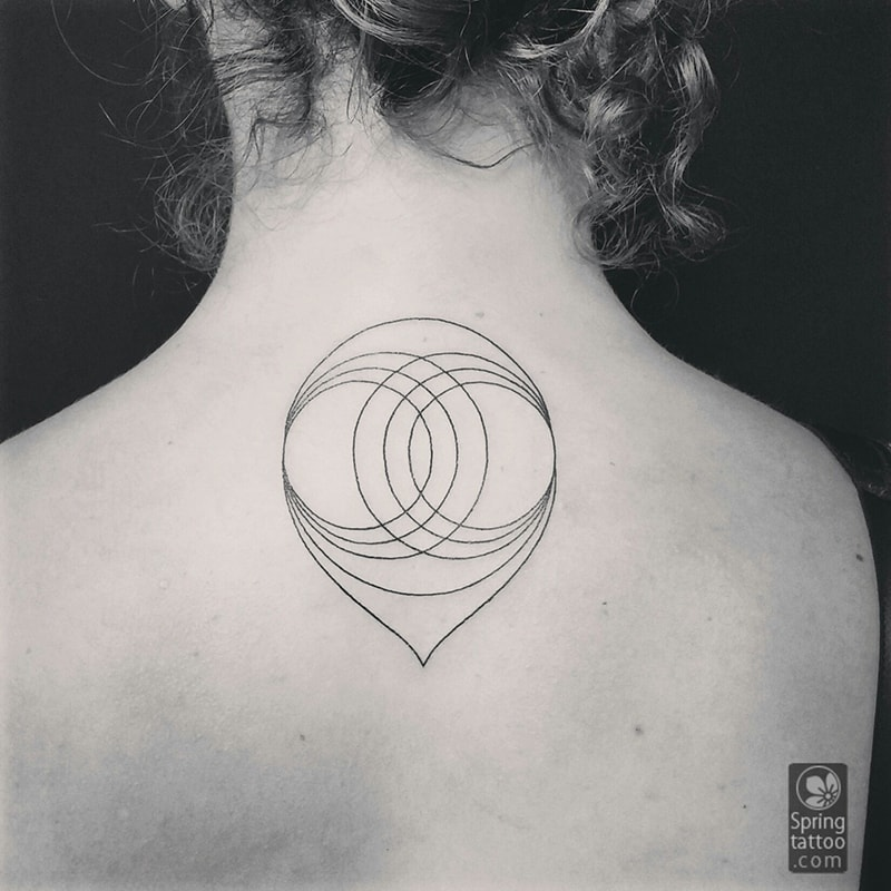 geometric tattoo by Aviv Rotshas
